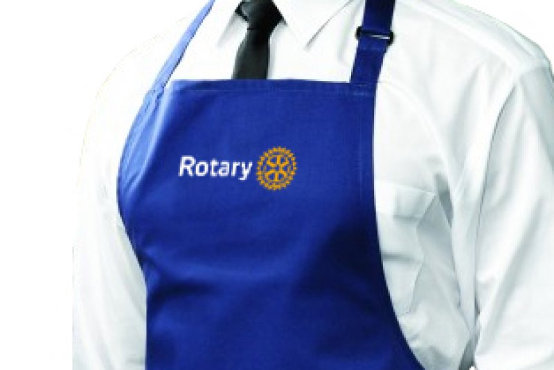 Schürze mit Rotary Masterbrand