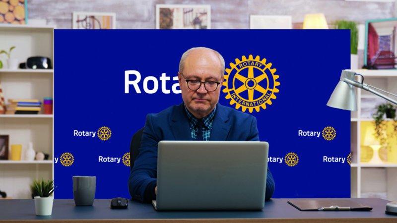 Rotary Hintergrundwand für Online-Meetings