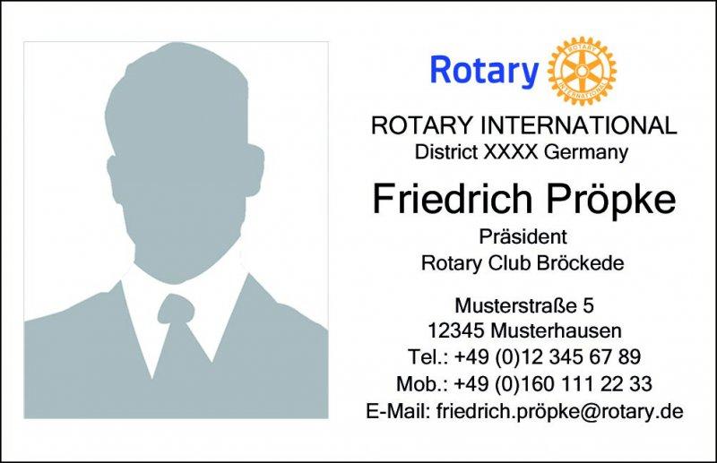 200 Individuelle Visitenkarten für Rotarier/innen