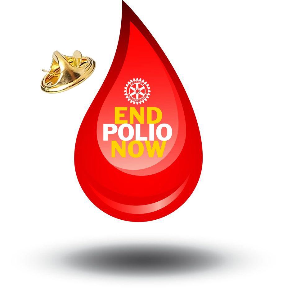 End Polio Now Pin Tropfen