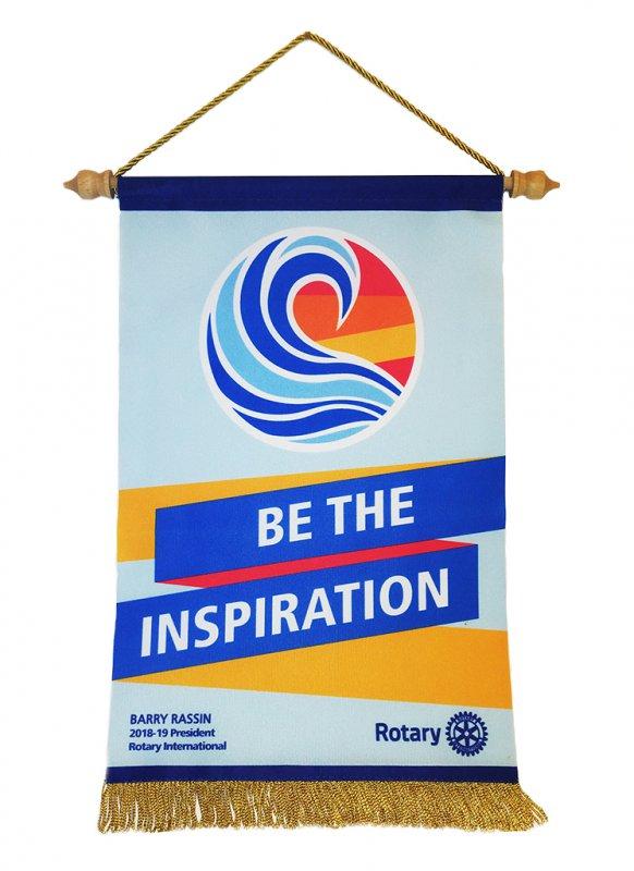 Tischbanner Jahresmotto 2018/19 - Be the Inspiration