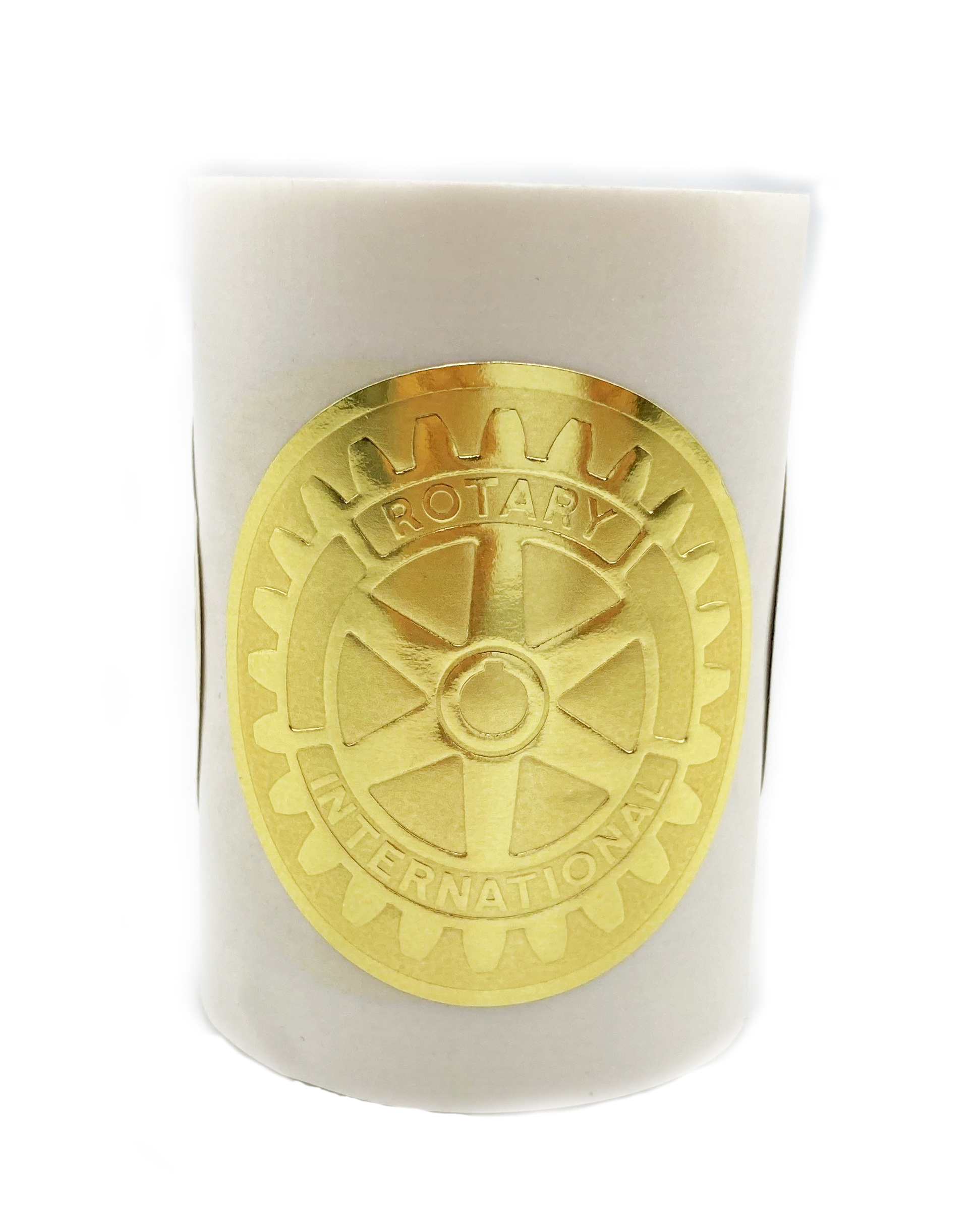 Rotary Sticker Goldprägung 4 cm