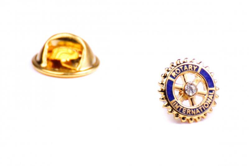 Rotary Anstecker mit Center Stone 9 mm
