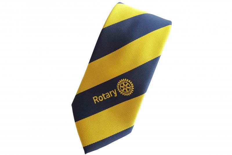 Krawatte Blau-Gelbe Streifen