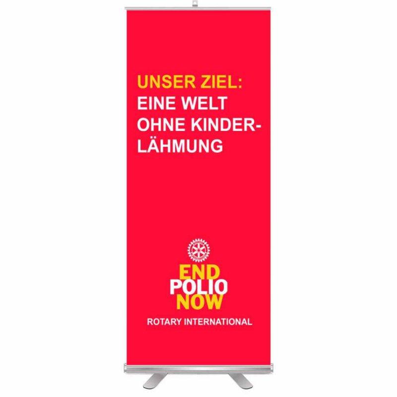 End Polio Now Roll-Up Aufsteller (Display)