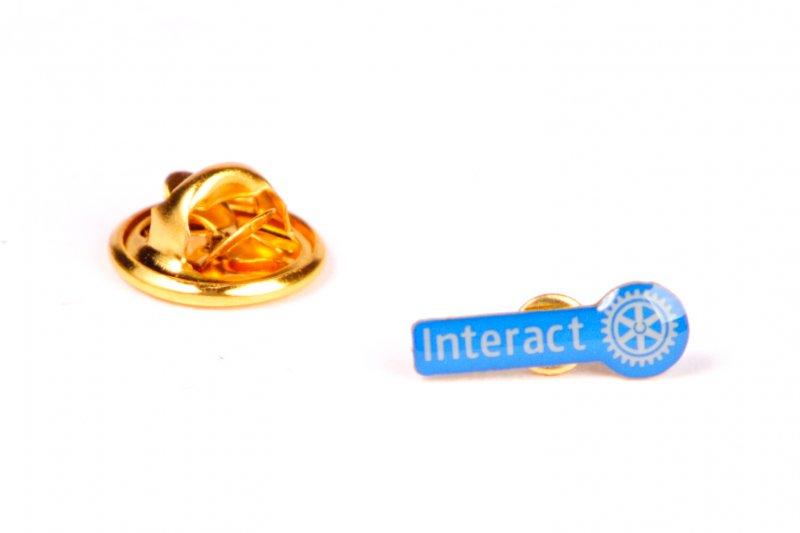 Interact Mitglieder Anstecker -neues Logo-