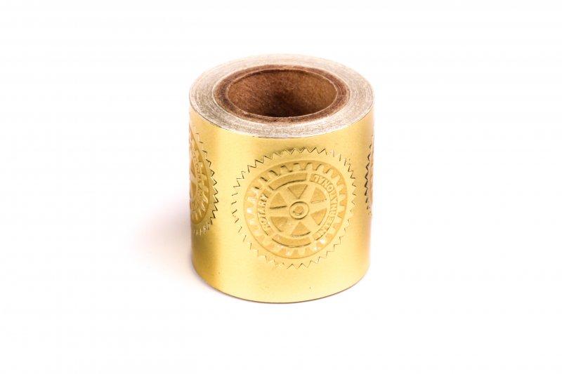 Rotary Sticker Goldprägung 3cm