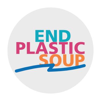 End Plastic Soup Bio-Aufkleber  (kompostierbar)
