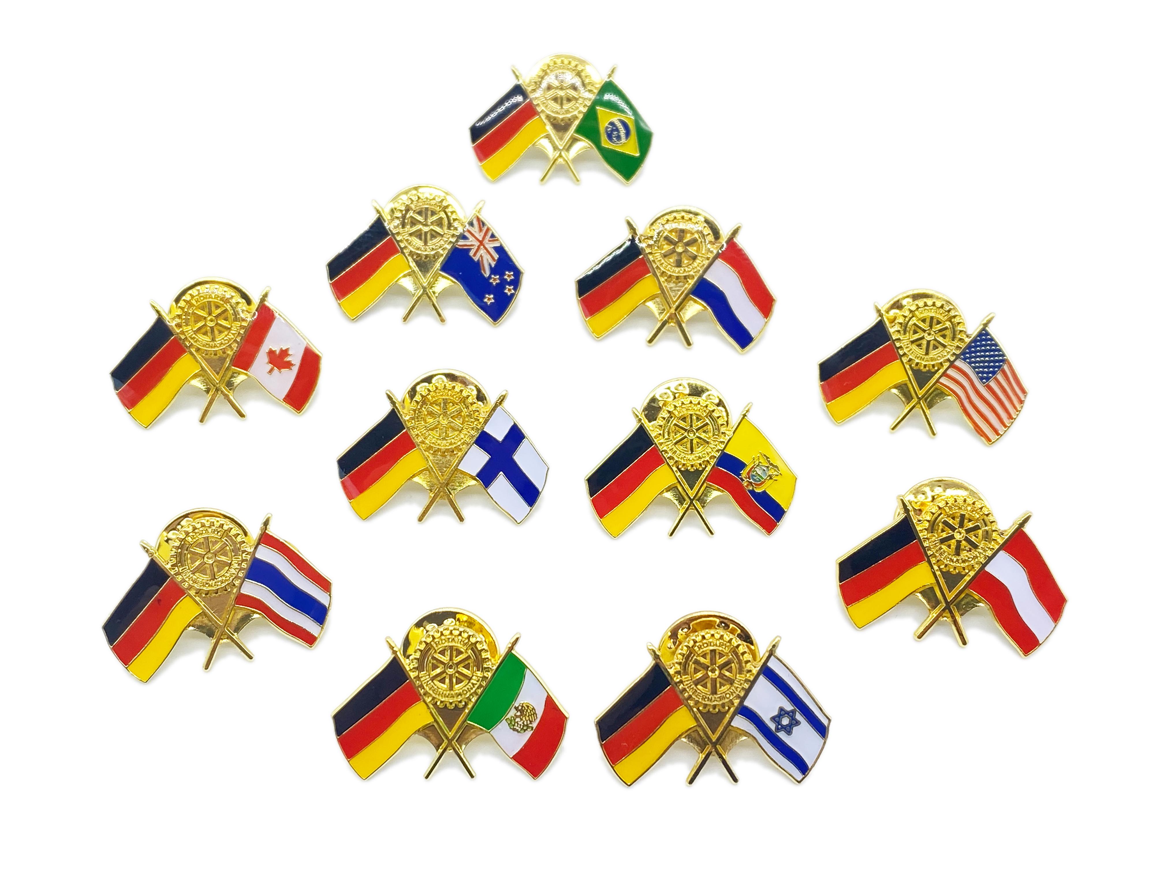 Länderpins Deutschland-Gastland