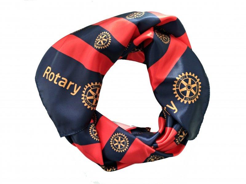Rotary Schaltuch - Rot Blau
