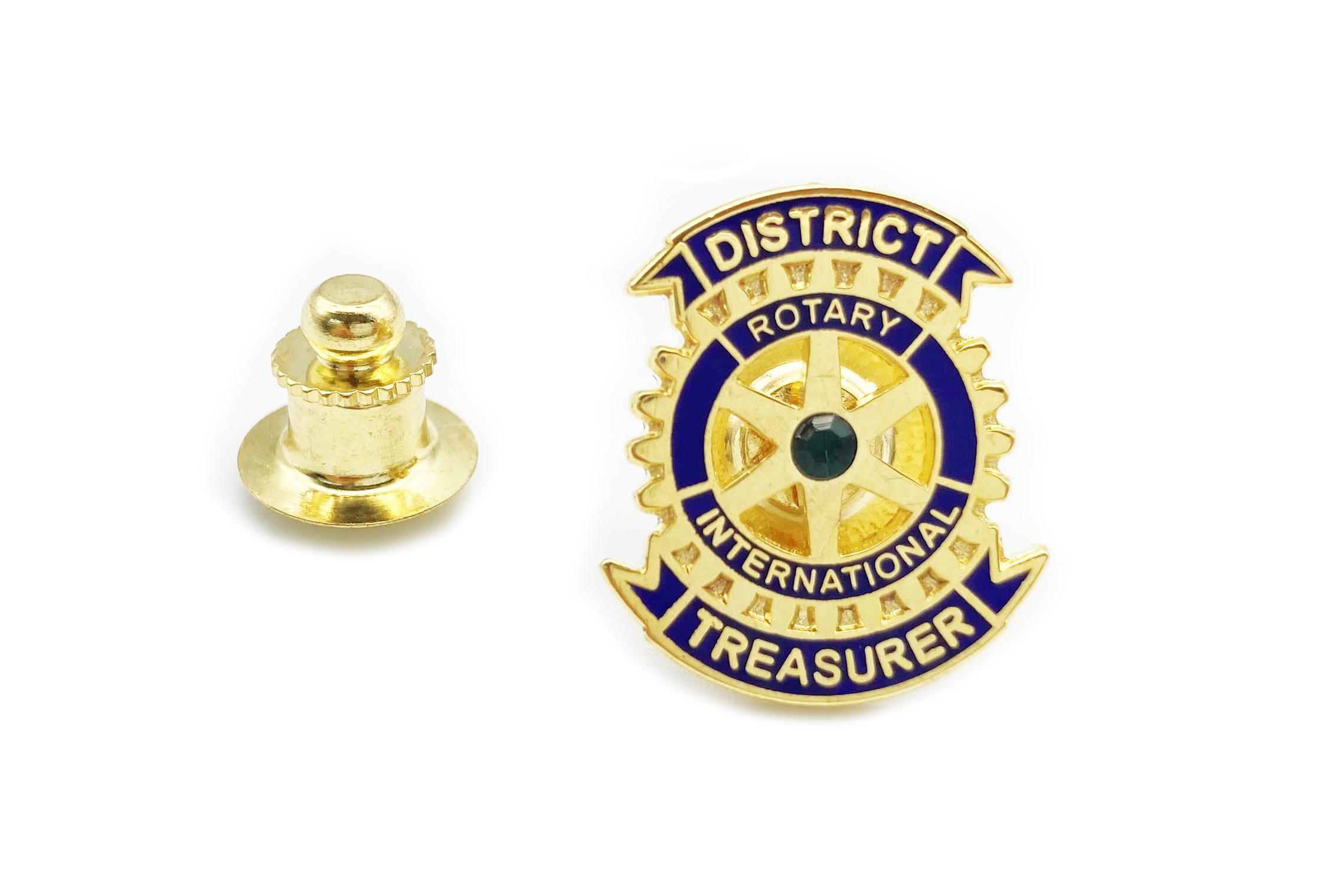 Rotary Distrikt Schatzmeister Pin