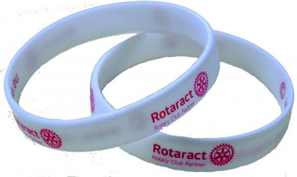 10 Rotaract Silikonarmbänder