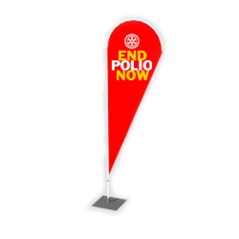 End Polio Now Beachflag