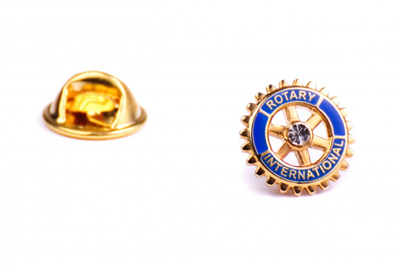Rotary Anstecker mit Center Stone 11 mm