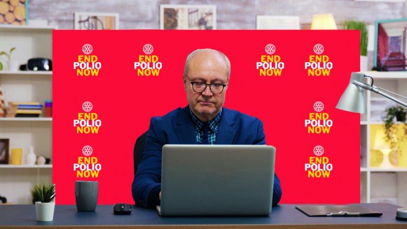 End Polio Now Hintergrundwand für Online-Meetings