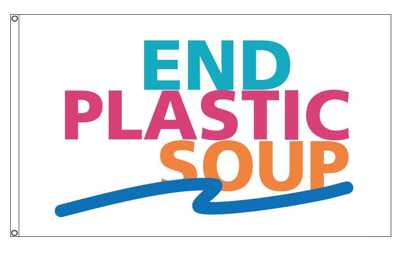 End Plastic Soup Flag