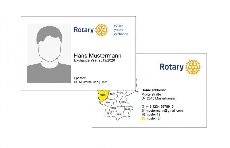 Visitenkarten Schüleraustausch (LTEP)