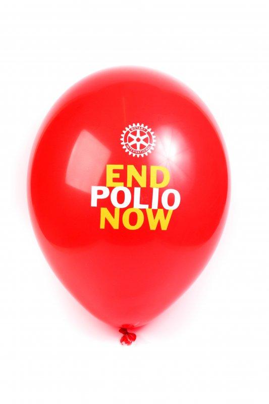 25 x End Polio Now Ballons