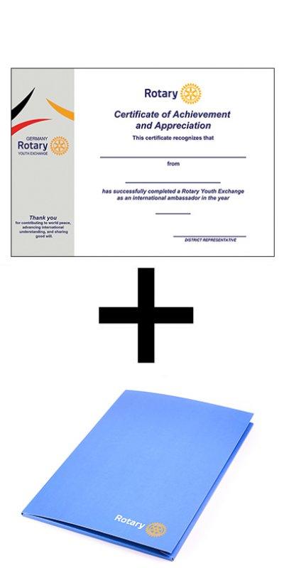 Urkunde & Mappe für Austauschschüler