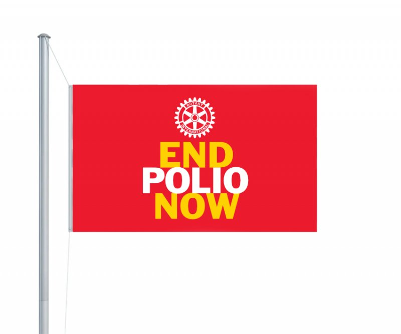 End Polio Now-Flagge (Fahne)