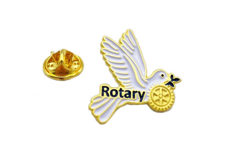 Rotary Pin -Friedenstaube-