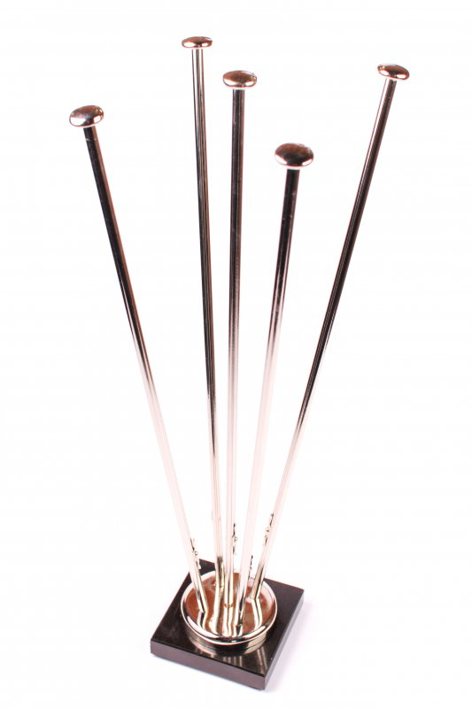 Fünfarmiger Wimpelständer aus Chrom