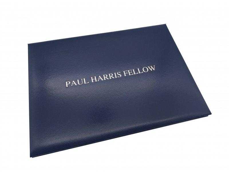 Paul Harris Fellow Lederpräsentationsmappe