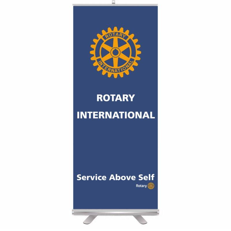 Rotary Roll-Up Aufsteller (Display)